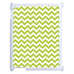 Spring Green And White Zigzag Pattern Apple Ipad 2 Case (white)
