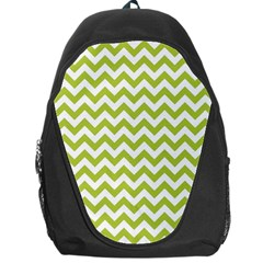 Spring Green And White Zigzag Pattern Backpack Bag