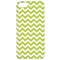 Spring Green And White Zigzag Pattern Apple Iphone 5 Classic Hardshell Case