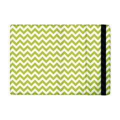 Spring Green And White Zigzag Pattern Apple Ipad Mini Flip Case
