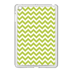 Spring Green And White Zigzag Pattern Apple Ipad Mini Case (white)