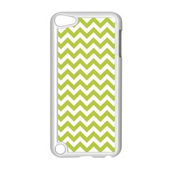 Spring Green And White Zigzag Pattern Apple Ipod Touch 5 Case (white)
