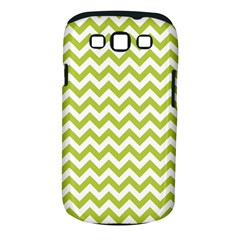 Spring Green And White Zigzag Pattern Samsung Galaxy S III Classic Hardshell Case (PC+Silicone)