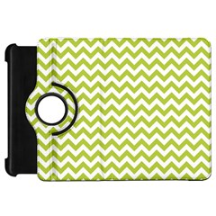 Spring Green And White Zigzag Pattern Kindle Fire HD 7  (1st Gen) Flip 360 Case