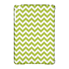 Spring Green And White Zigzag Pattern Apple iPad Mini Hardshell Case (Compatible with Smart Cover)