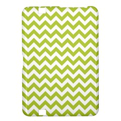 Spring Green And White Zigzag Pattern Kindle Fire HD 8.9  Hardshell Case