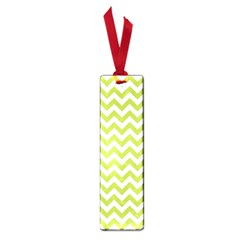 Spring Green And White Zigzag Pattern Small Bookmark