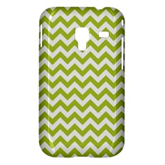 Spring Green And White Zigzag Pattern Samsung Galaxy Ace Plus S7500 Hardshell Case