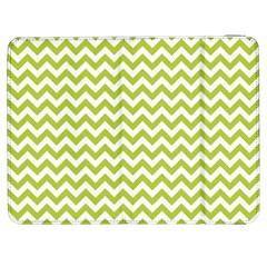 Spring Green And White Zigzag Pattern Samsung Galaxy Tab 7  P1000 Flip Case