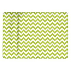 Spring Green And White Zigzag Pattern Samsung Galaxy Tab 10.1  P7500 Flip Case