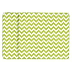 Spring Green And White Zigzag Pattern Samsung Galaxy Tab 8.9  P7300 Flip Case