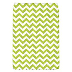 Spring Green And White Zigzag Pattern Removable Flap Cover (Large)