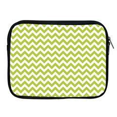 Spring Green And White Zigzag Pattern Apple iPad Zippered Sleeve