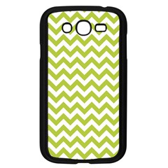 Spring Green And White Zigzag Pattern Samsung Galaxy Grand DUOS I9082 Case (Black)