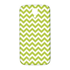 Spring Green And White Zigzag Pattern Samsung Galaxy S4 I9500/I9505  Hardshell Back Case