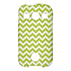 Spring Green And White Zigzag Pattern Samsung Galaxy S7710 Xcover 2 Hardshell Case