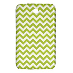 Spring Green And White Zigzag Pattern Samsung Galaxy Tab 3 (7 ) P3200 Hardshell Case