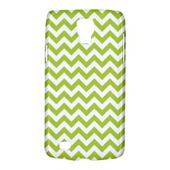 Spring Green And White Zigzag Pattern Samsung Galaxy S4 Active (i9295) Hardshell Case