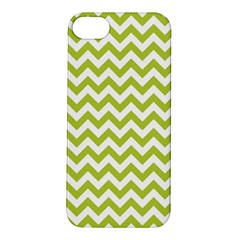 Spring Green And White Zigzag Pattern Apple iPhone 5S Hardshell Case