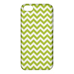Spring Green And White Zigzag Pattern Apple iPhone 5C Hardshell Case
