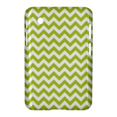 Spring Green And White Zigzag Pattern Samsung Galaxy Tab 2 (7 ) P3100 Hardshell Case