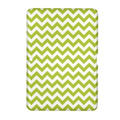 Spring Green And White Zigzag Pattern Samsung Galaxy Tab 2 (10 1 ) P5100 Hardshell Case