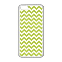 Spring Green And White Zigzag Pattern Apple Iphone 5c Seamless Case (white)