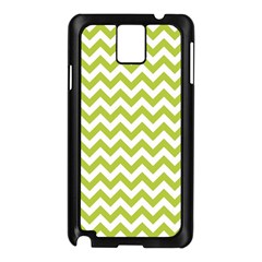 Spring Green And White Zigzag Pattern Samsung Galaxy Note 3 N9005 Case (Black)