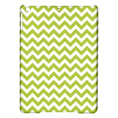 Spring Green And White Zigzag Pattern Apple Ipad Air Hardshell Case
