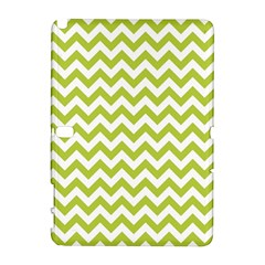 Spring Green And White Zigzag Pattern Samsung Galaxy Note 10.1 (P600) Hardshell Case
