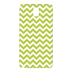 Spring Green And White Zigzag Pattern Samsung Galaxy Note 3 N9005 Hardshell Back Case