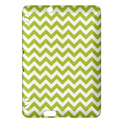Spring Green And White Zigzag Pattern Kindle Fire HDX 7  Hardshell Case