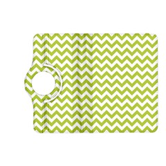 Spring Green And White Zigzag Pattern Kindle Fire Hd 7  (2nd Gen) Flip 360 Case