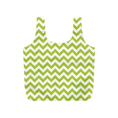 Spring Green And White Zigzag Pattern Reusable Bag (S)