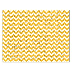 Sunny Yellow And White Zigzag Pattern Jigsaw Puzzle (Rectangle)