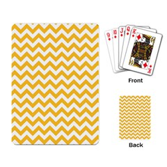 Sunny Yellow And White Zigzag Pattern Playing Cards Single Design