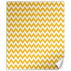 Sunny Yellow And White Zigzag Pattern Canvas 8  x 10  (Unframed)