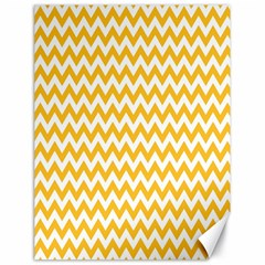 Sunny Yellow And White Zigzag Pattern Canvas 18  X 24  (unframed)