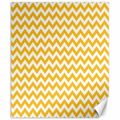 Sunny Yellow And White Zigzag Pattern Canvas 20  x 24  (Unframed)