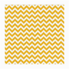 Sunny Yellow And White Zigzag Pattern Glasses Cloth (medium, Two Sided)