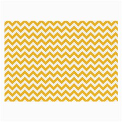 Sunny Yellow And White Zigzag Pattern Glasses Cloth (Large, Two Sided)