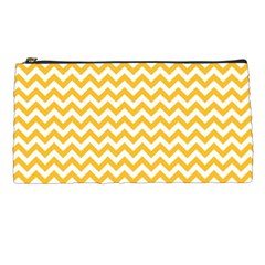 Sunny Yellow And White Zigzag Pattern Pencil Case