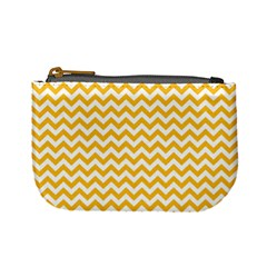 Sunny Yellow And White Zigzag Pattern Coin Change Purse
