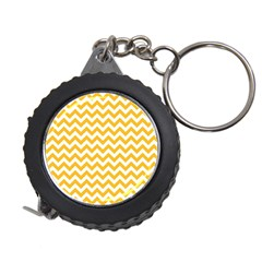 Sunny Yellow And White Zigzag Pattern Measuring Tape
