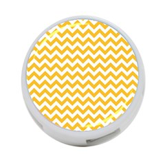 Sunny Yellow And White Zigzag Pattern 4 Port Usb Hub (one Side)