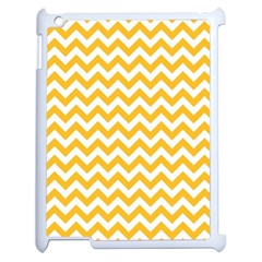 Sunny Yellow And White Zigzag Pattern Apple iPad 2 Case (White)