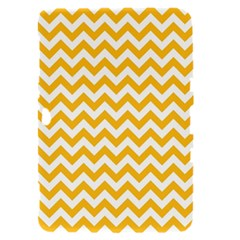 Sunny Yellow And White Zigzag Pattern Samsung Galaxy Tab 8.9  P7300 Hardshell Case