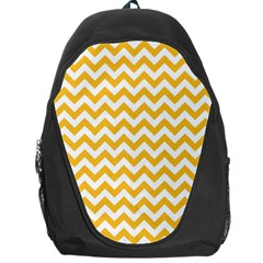 Sunny Yellow And White Zigzag Pattern Backpack Bag