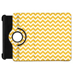 Sunny Yellow And White Zigzag Pattern Kindle Fire Hd 7  (1st Gen) Flip 360 Case