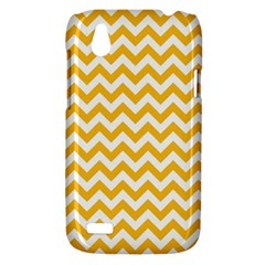 Sunny Yellow And White Zigzag Pattern HTC Desire V (T328W) Hardshell Case